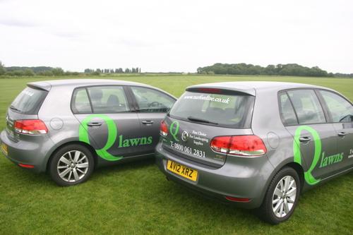Q Lawns' VW Golf Bluemotion cars