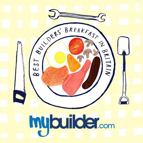 MyBuilder Breakfast competition logo
