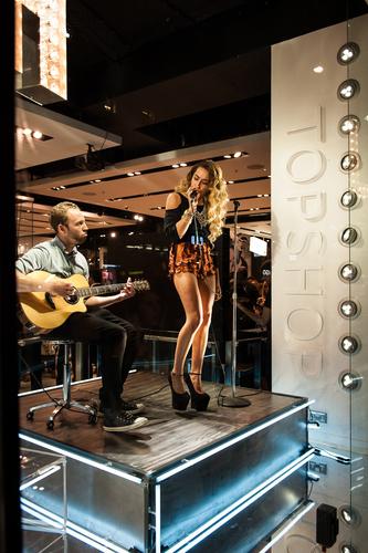 Delilah performing at Topshop