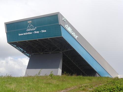 Sanicubic sited under slope