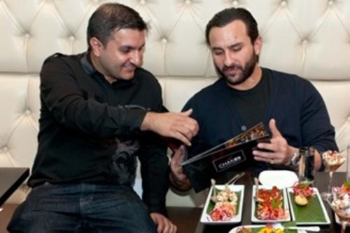 Saif Ali Khan and Frank Khalid