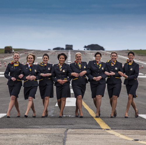 New uniforms for Aurigny Airlines's crew