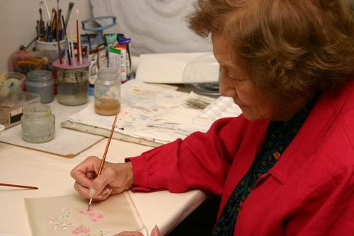 Jean Robson of Handmaid at work