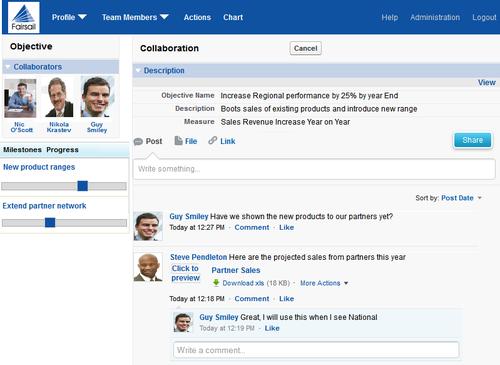 Fairsail SocialHCM Collaboration Portal