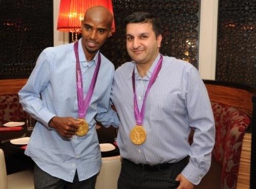 Frank Khalid and Mo Farah at Chak 89