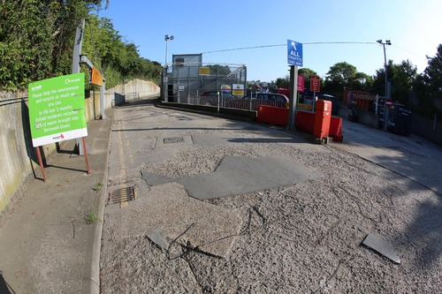 Repair to concrete slab on access road