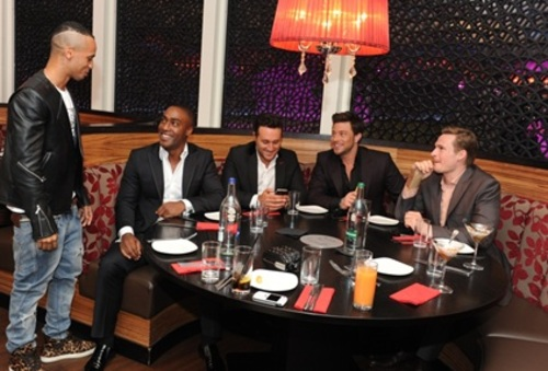 BLUE before their performance at Chak 89