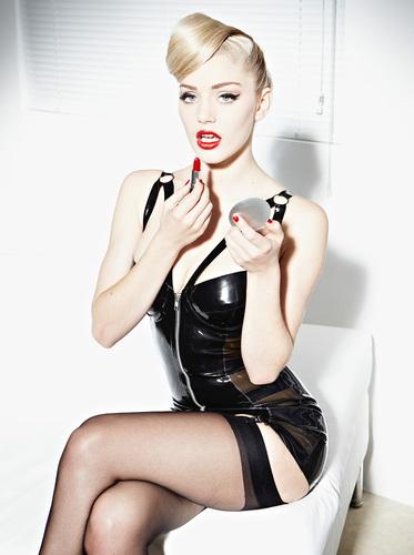 Latex Silhouette Suspender Dress