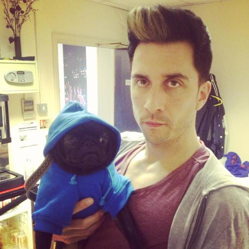 Russell Kane and Colin the Pug