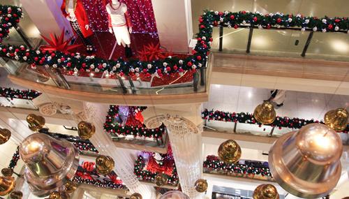 Selfridges' Christmas bells display