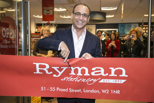 Theo Paphitis opens new Ryman Store