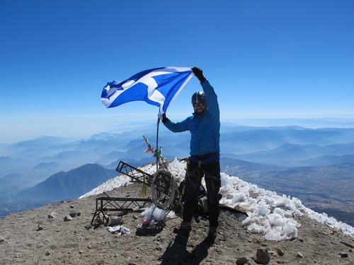 Ricky on summit - Pico de Orizaba, 5636m
