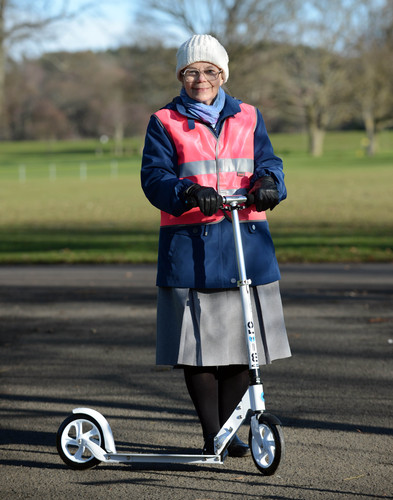 Scooter Gran With Her New Wheels