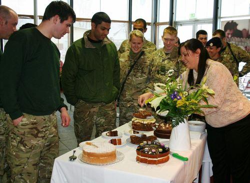 British Troops Enjoying ProperMaid Cakes