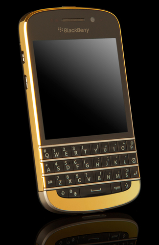 Gold BlackBerry Q10 from Goldgenie