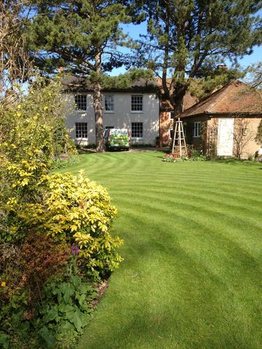 A beautiful lawn completes a garden