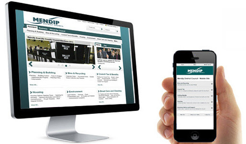 Mendip website and mobile site