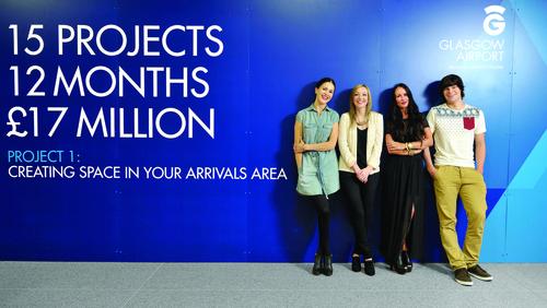 The Designline team at Glasgow Airport