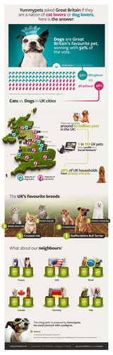 Cats vs. Dogs in the UK: infographic