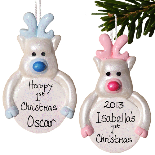 Baby Rudolph Reindeer Christmas Bauble