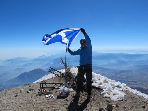 Ricky on the summit of Pico de Orizaba