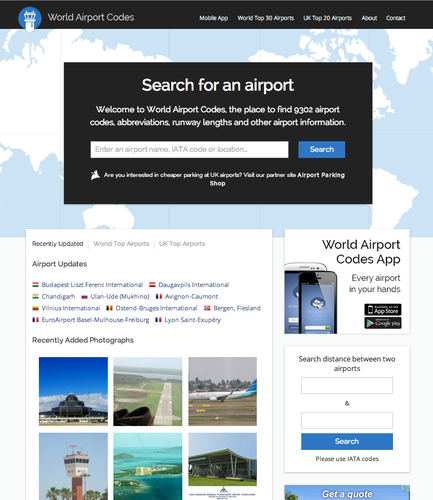 The new look World Airport Codes
