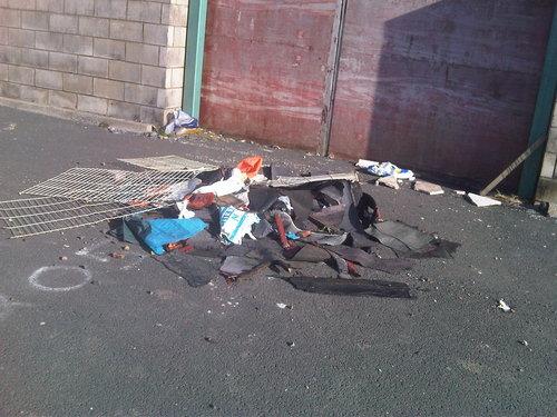 Rubbish can be a fire risk: remove it