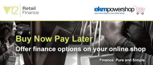 Finance payments with ekmPowershop & V12
