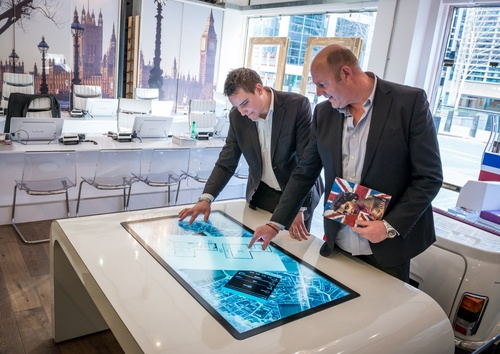 Multitouch tech helping estate agents