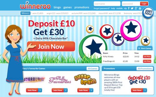 Winneroo Bingo website