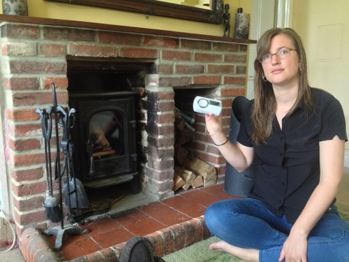 Gemma French with her FireAngel CO alarm
