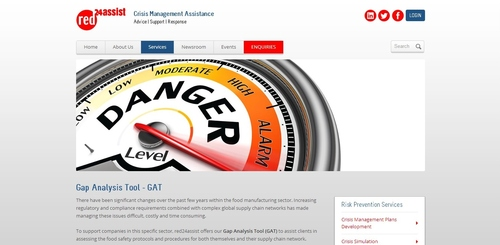 red24assist gap analysis tool homepage