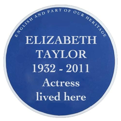 Elizabeth Taylor Blue Plaque  Logo