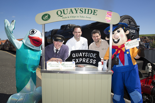 The Quayside Express and mascots