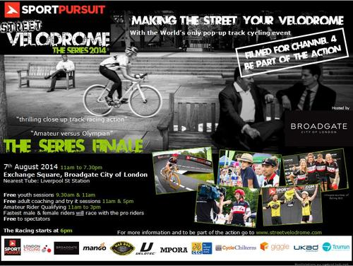 POP-UP TRACK CYCLING COMES TO THE CITY