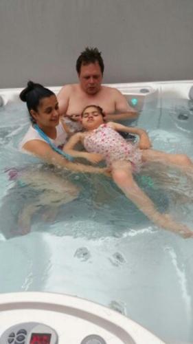 Millie's hot tub