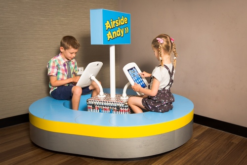 Airside Andy play pod in action
