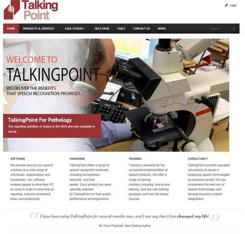 The new look TalkingPoint website