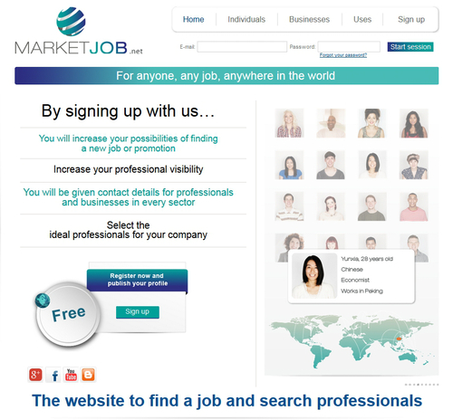 Marketjob.net home page