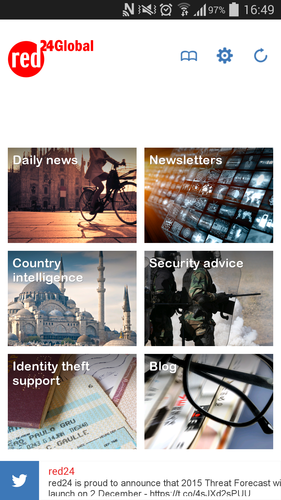 red24Global app homepage