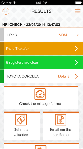 Example of the trade app