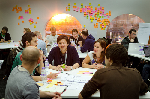 Community collaborating at MozFest 2013