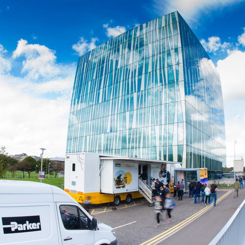 Truck tour visits University of Aberdeen
