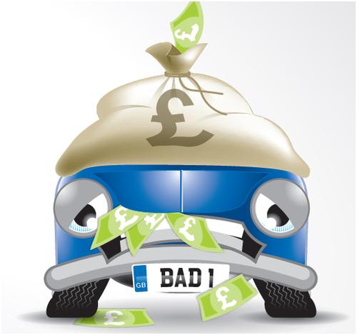 HPI Cartoon Car - Outstanding Finance