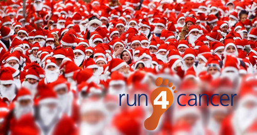 Santa Run in London - Run 4 Cancer