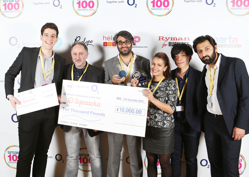 O2 Smarta 100 Business of the Year 2014