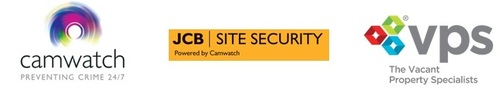 Camwatch JCB Security VPS logos