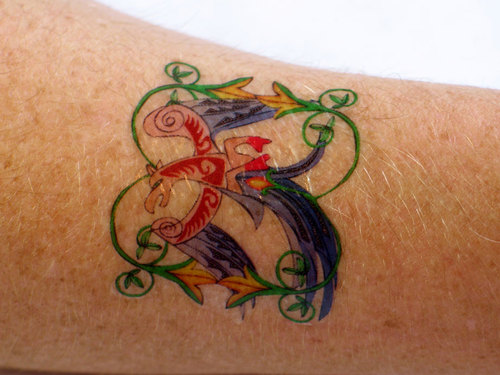 Inkjet and laser tattoo paper