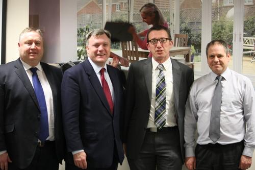 Ed Balls visits Anglian Ossett Branch