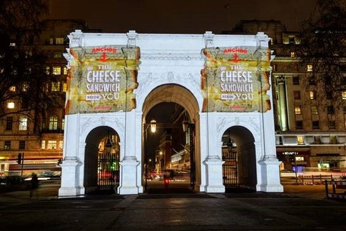 Anchor Cheddar lights up Marble Arch